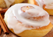 Close-up of a cinnamon roll