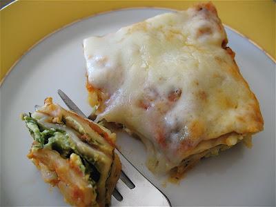 matzo lasagna on a plate