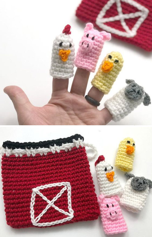 Crocheted Animal Finger Puppets
