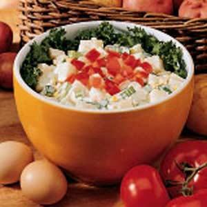 Italian potato salad in a bowl