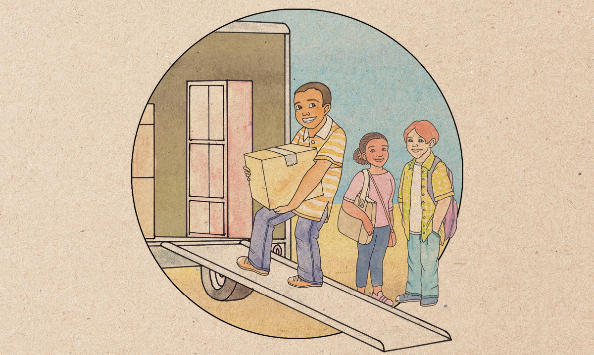 Helping kids deal with moving anxiety