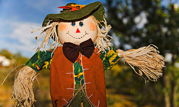 A happy scarecrow