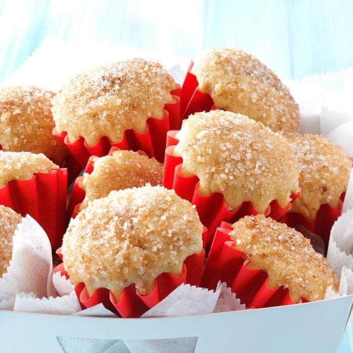 doughnut muffins in a basket