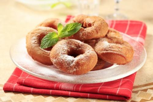 moms easy donuts in a basket