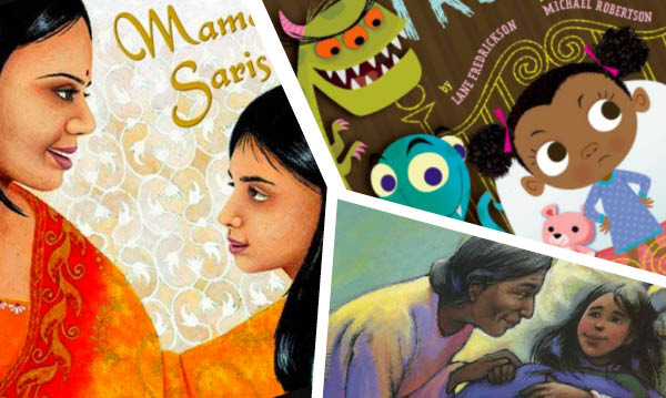 A collage of covers from multicultural children's books