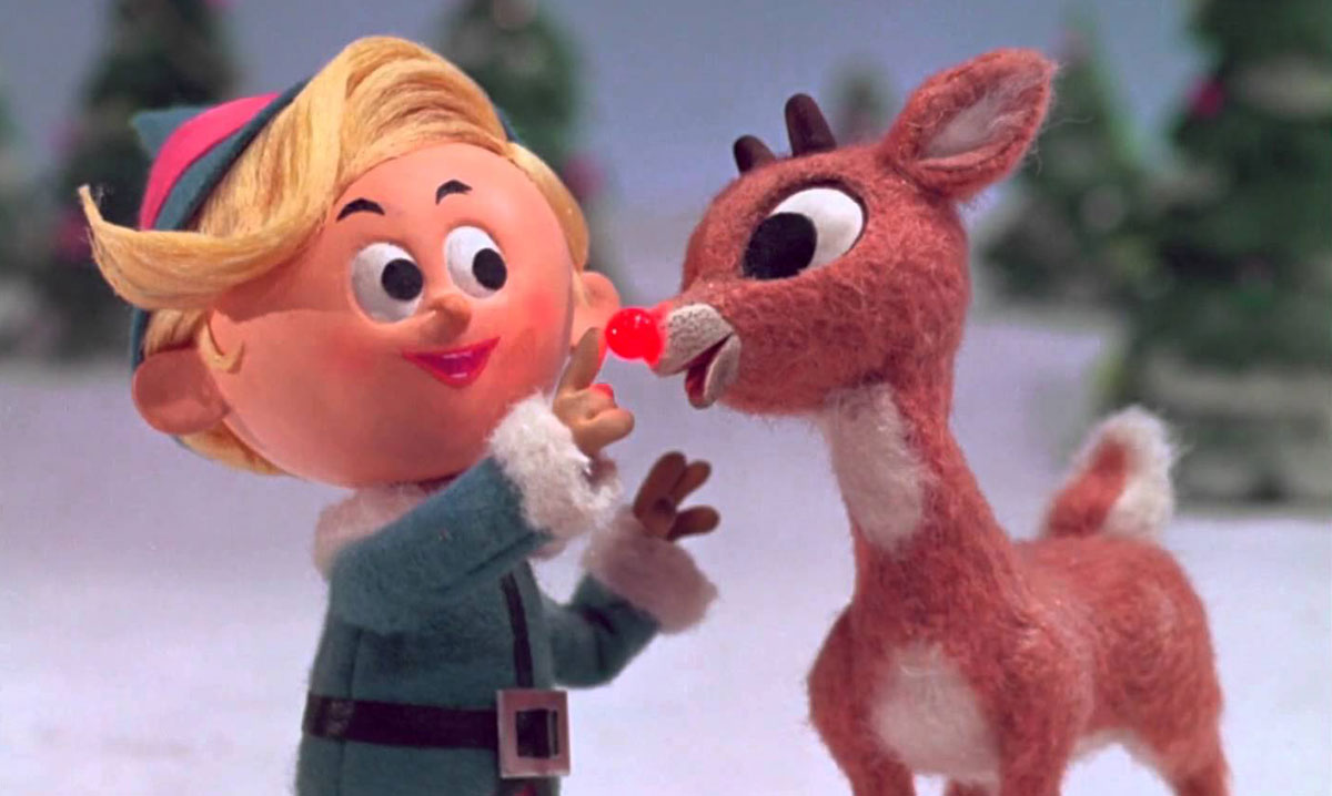 A scene from Rudolph the Red-Nosed Reindeer