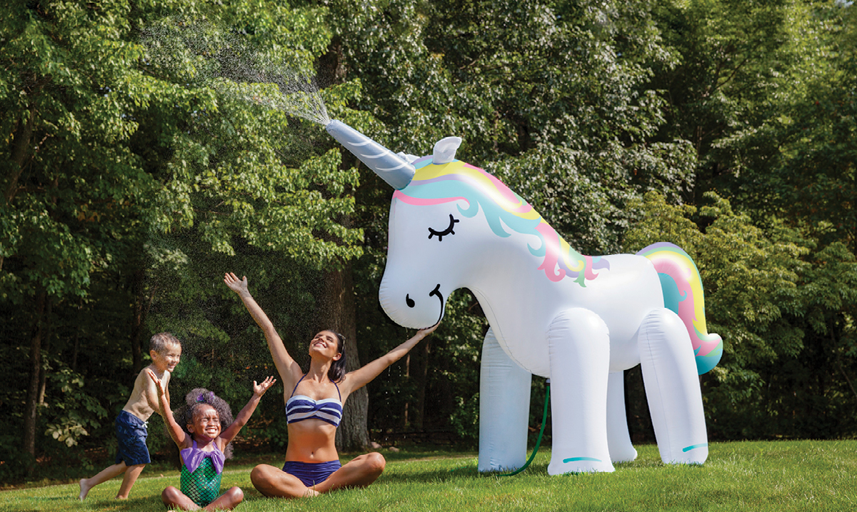 Win a Unicorn Lawn Sprinkler from Big Mouth Toys