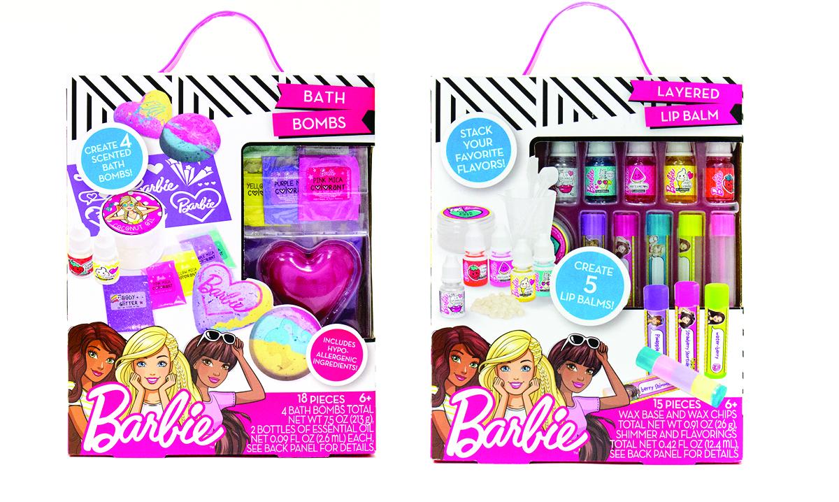 Win Barbie Bath Bombs and Layered Lip Balm