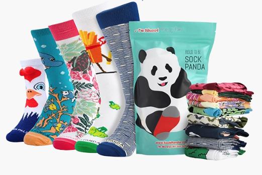 Socks from a Sock Panda subscription box