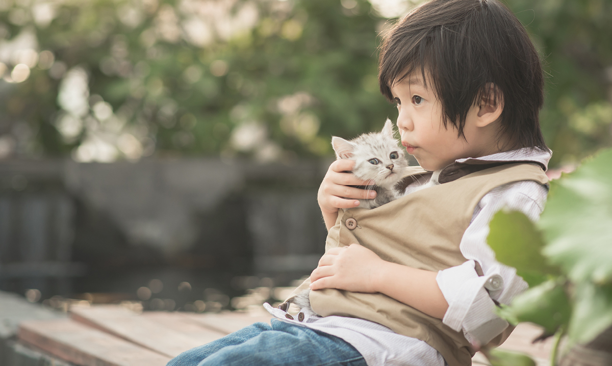 The benefits of pets for child development