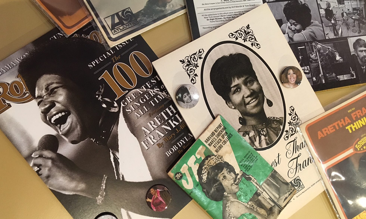 Aretha Franklin exhibit at the Detroit Historical Museum