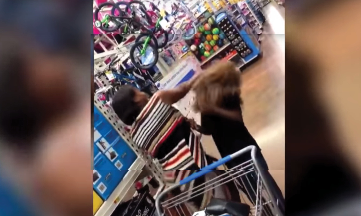 Mom punches son in Chewie mask