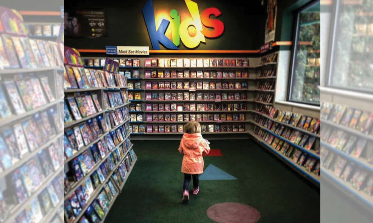 Taking your kids to a video store