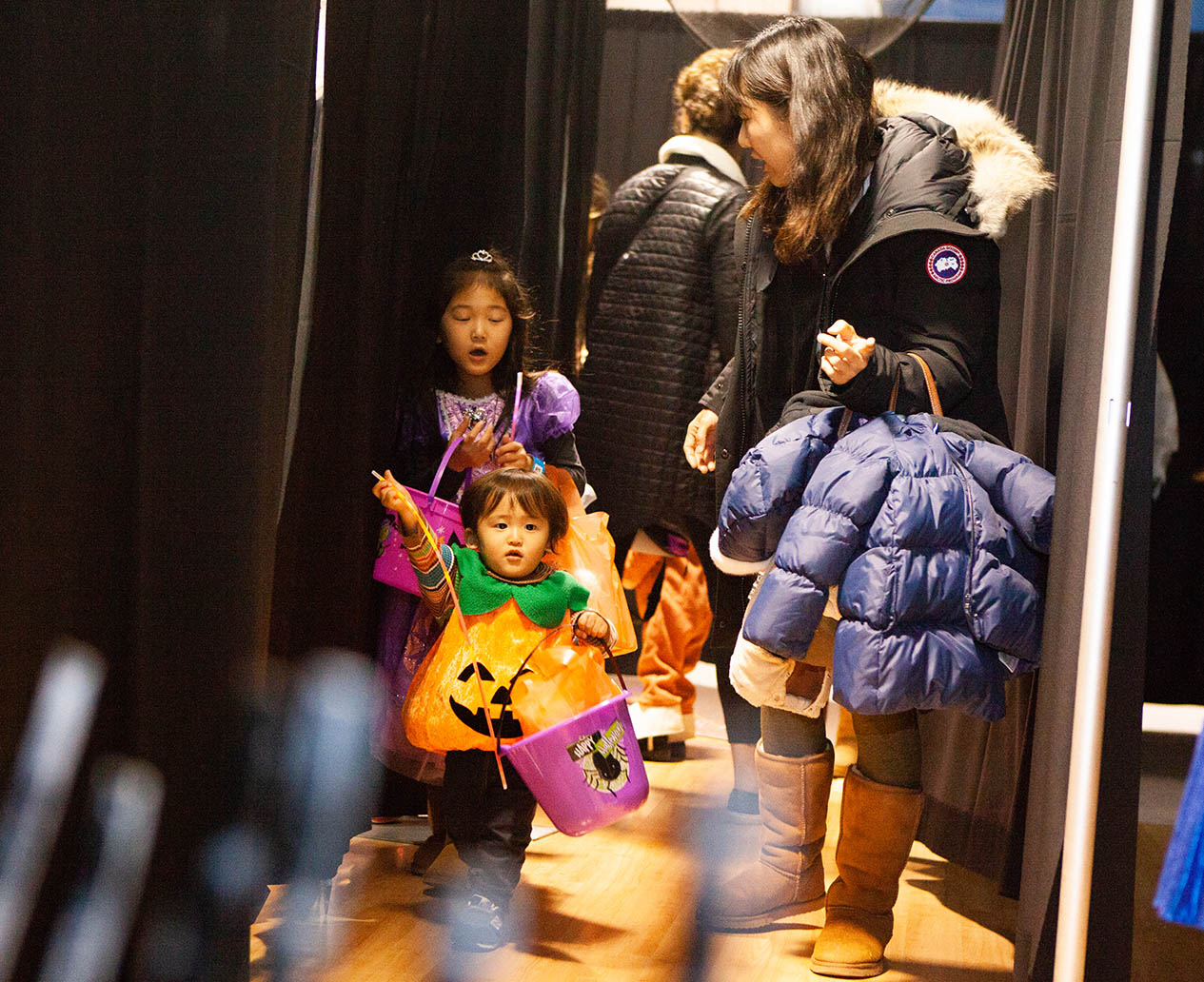Monster Mash attendees in the Not-So-Scary Maze at Orchard Mall on Oct. 26, 2018.