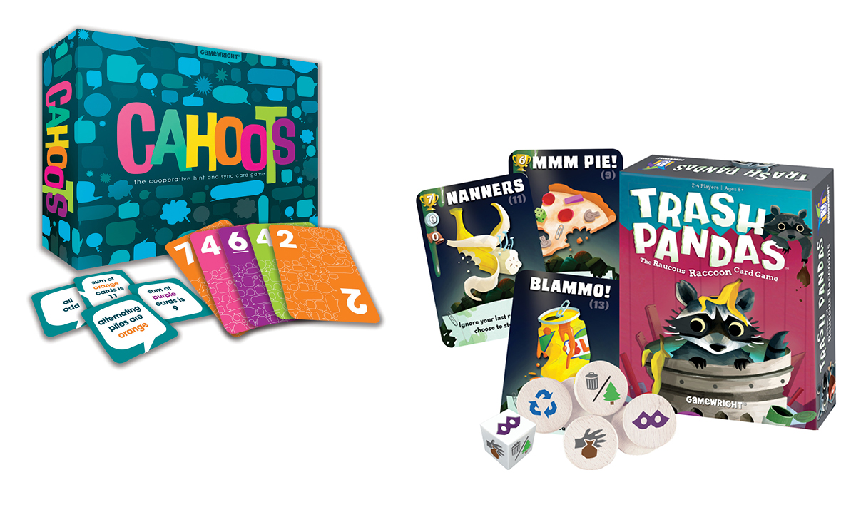 Win Trash Pandas and Cahoots Games by Gamewright