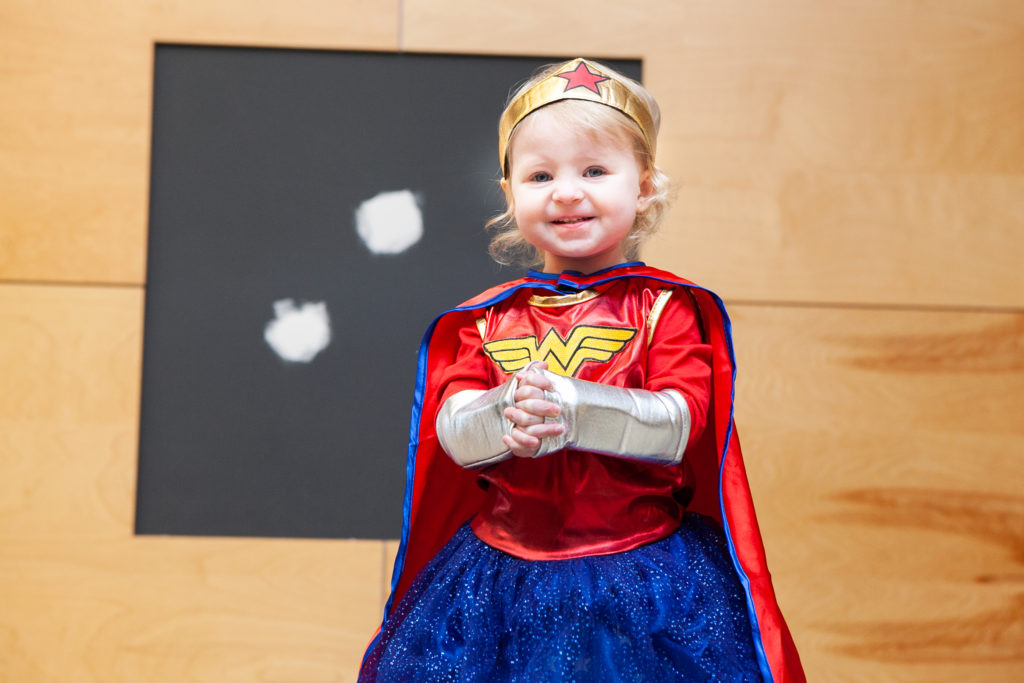Little girl as Wonder Woman