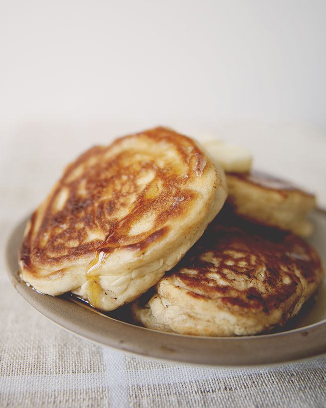 Three Irish pancakes on a plate