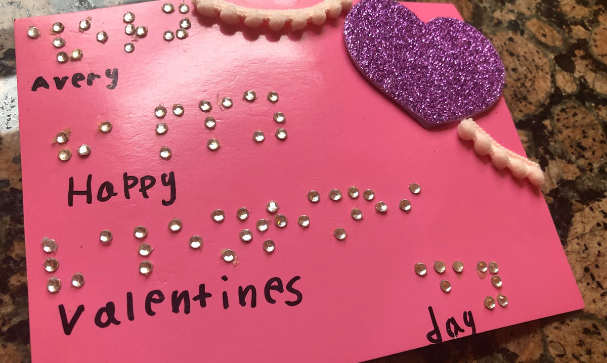 Braille valentine by Royal Oak girl