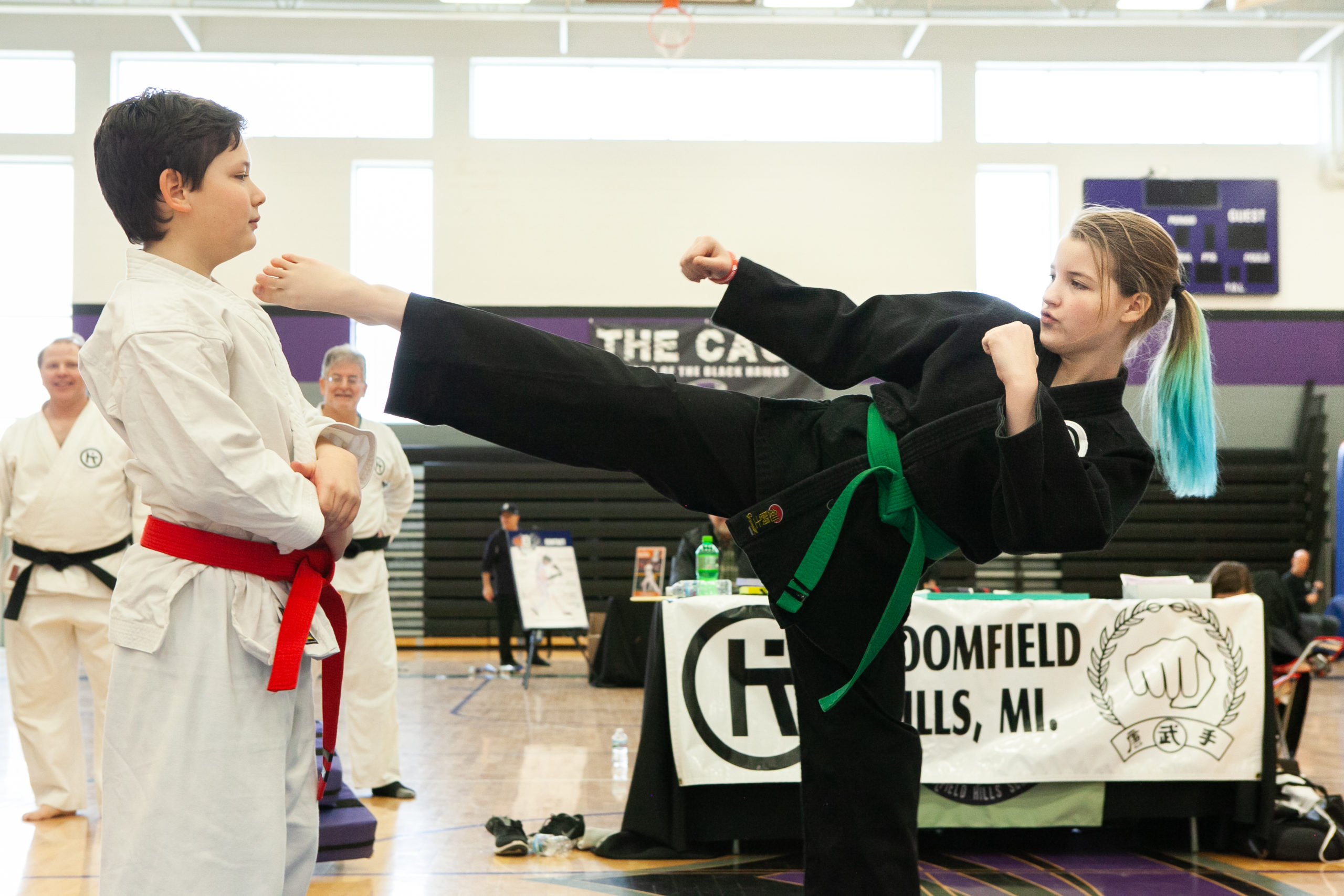 Karate camp demonstration at Camp Expo 2019.