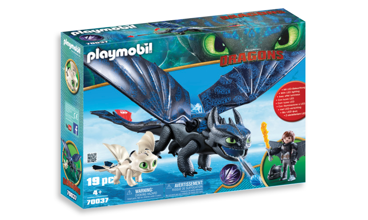 Playmobil DreamWorks Dragons Hiccup & Toothless with Baby Dragon