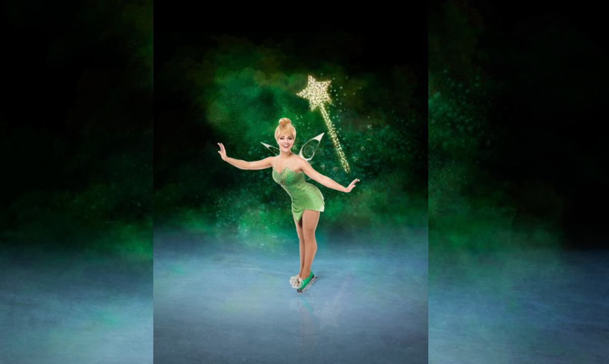 Tinker Bell standing on ice