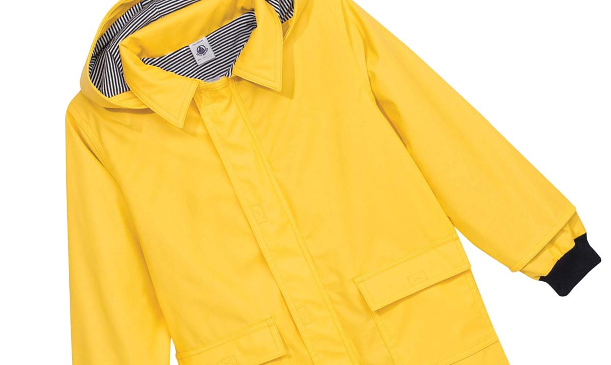 Petite Bateau raincoat in yellow