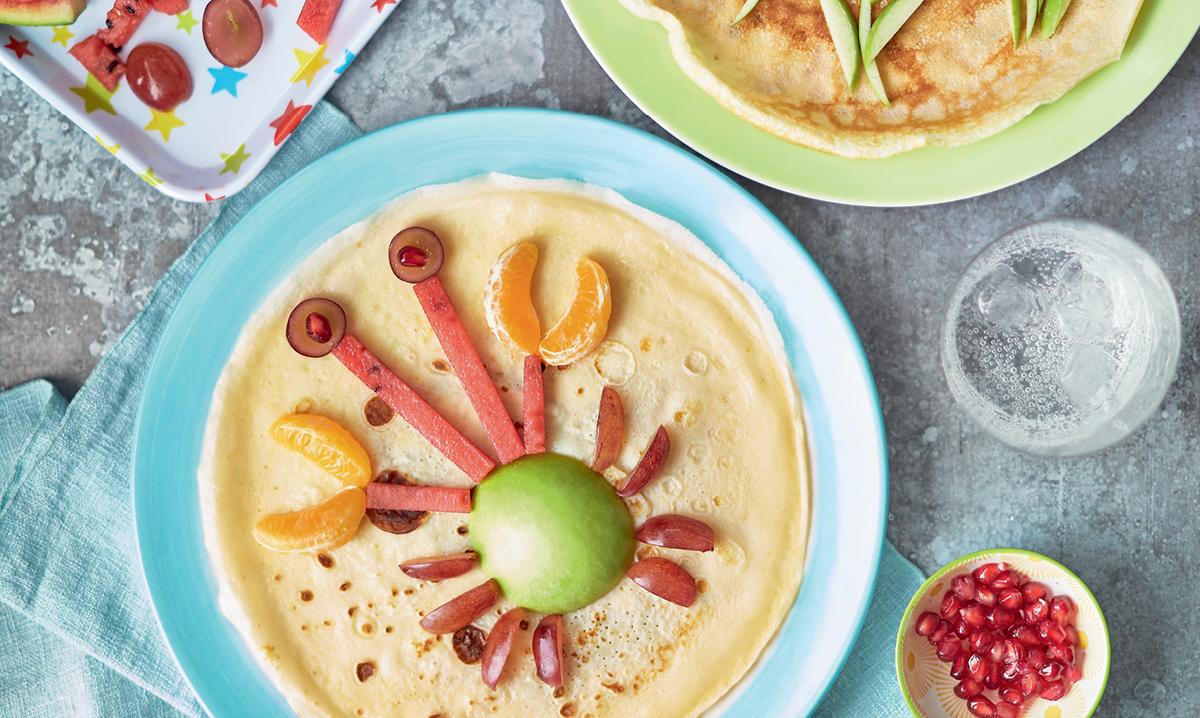Crepe Pancake Fruit Art From Kids Cookbook