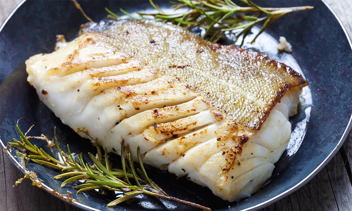 Atlantic cod with rosemary