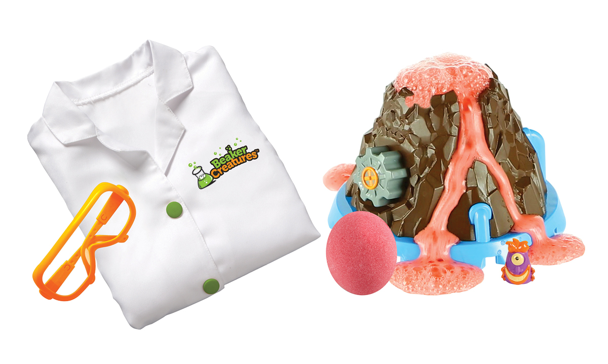 Win Beaker Creatures Bubbling Volcano Reactor and Lab Gear