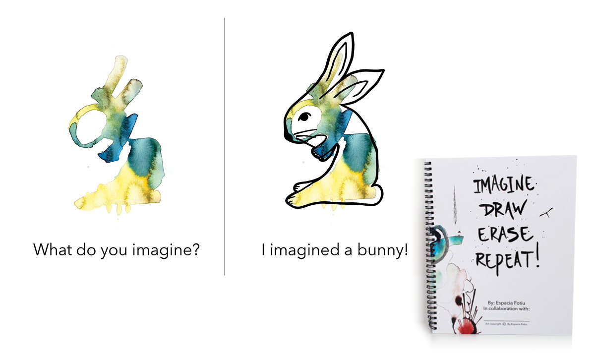 Example of imagining a bunny from an abstract shape