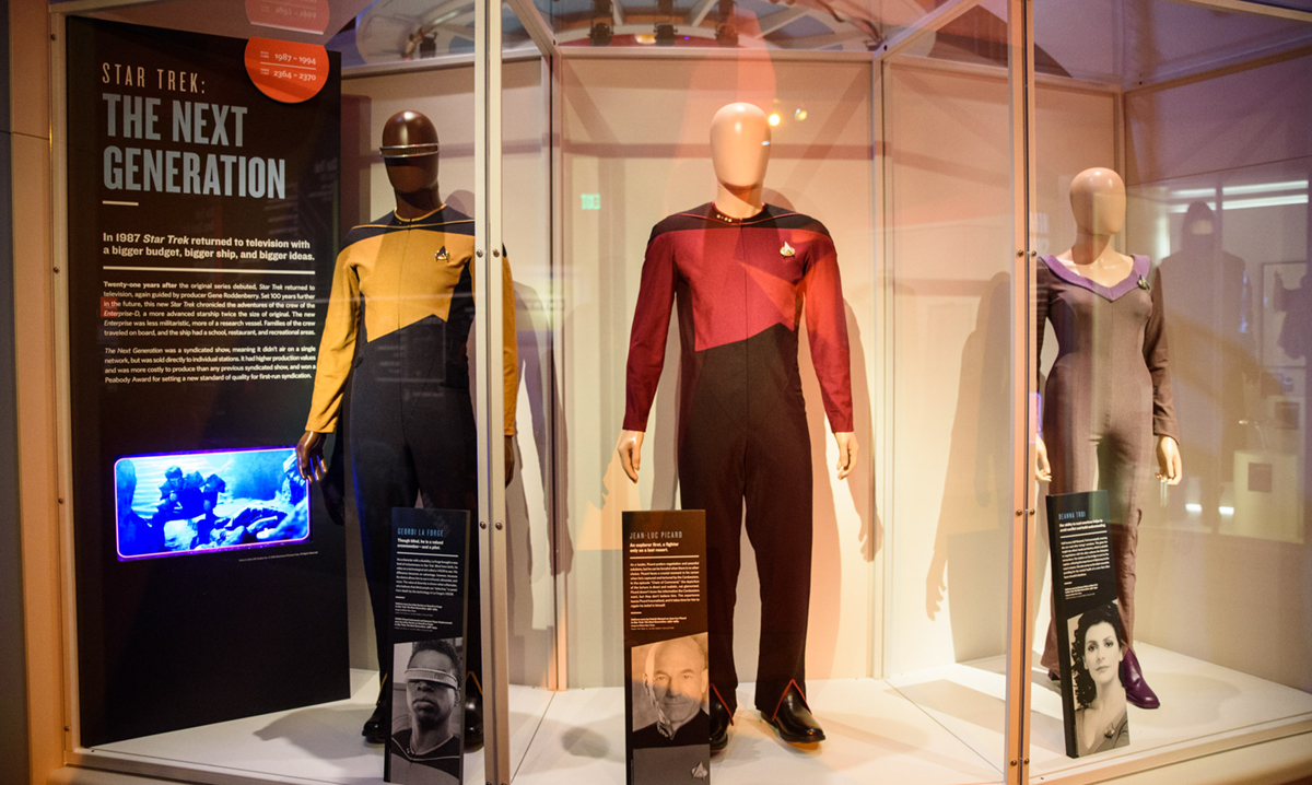 Pieces from the Star Trek: Exploring New Worlds exhibit