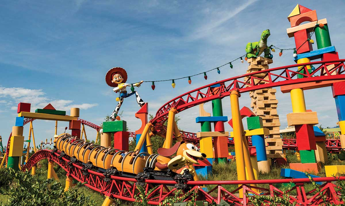 Slinky Dog Roller Coaster at Disney