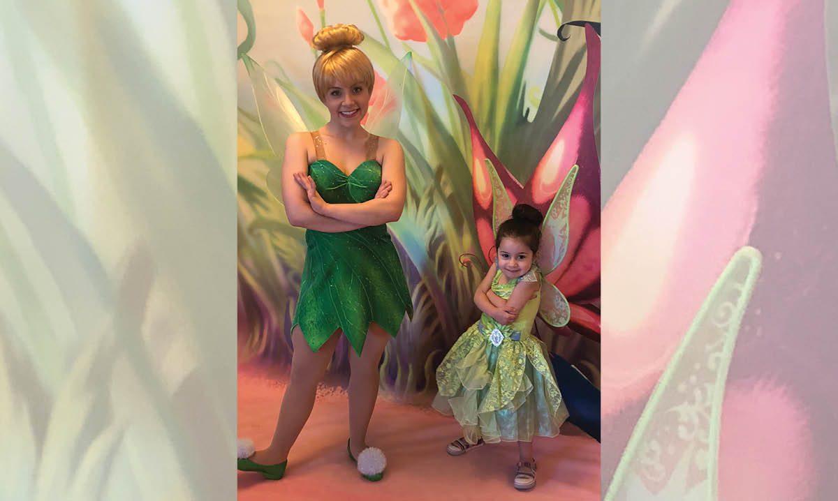 Kid with Tinkerbell