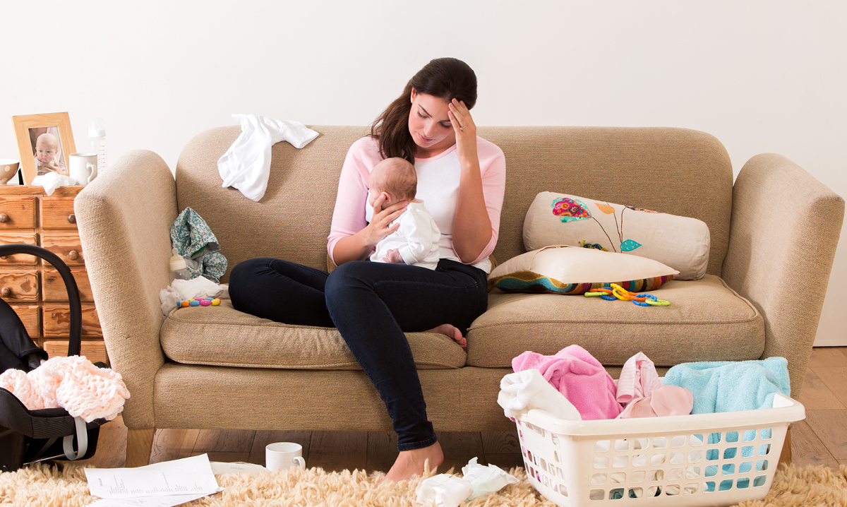 New mom overwhelmed by baby responsibilities