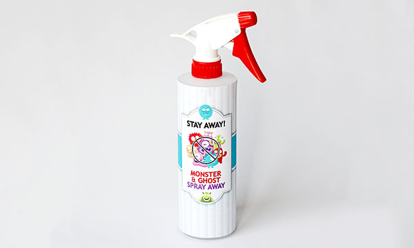 Monster spray bottle on a white background