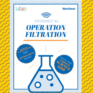 Cover of the virtual camp operation filtration experiment guide
