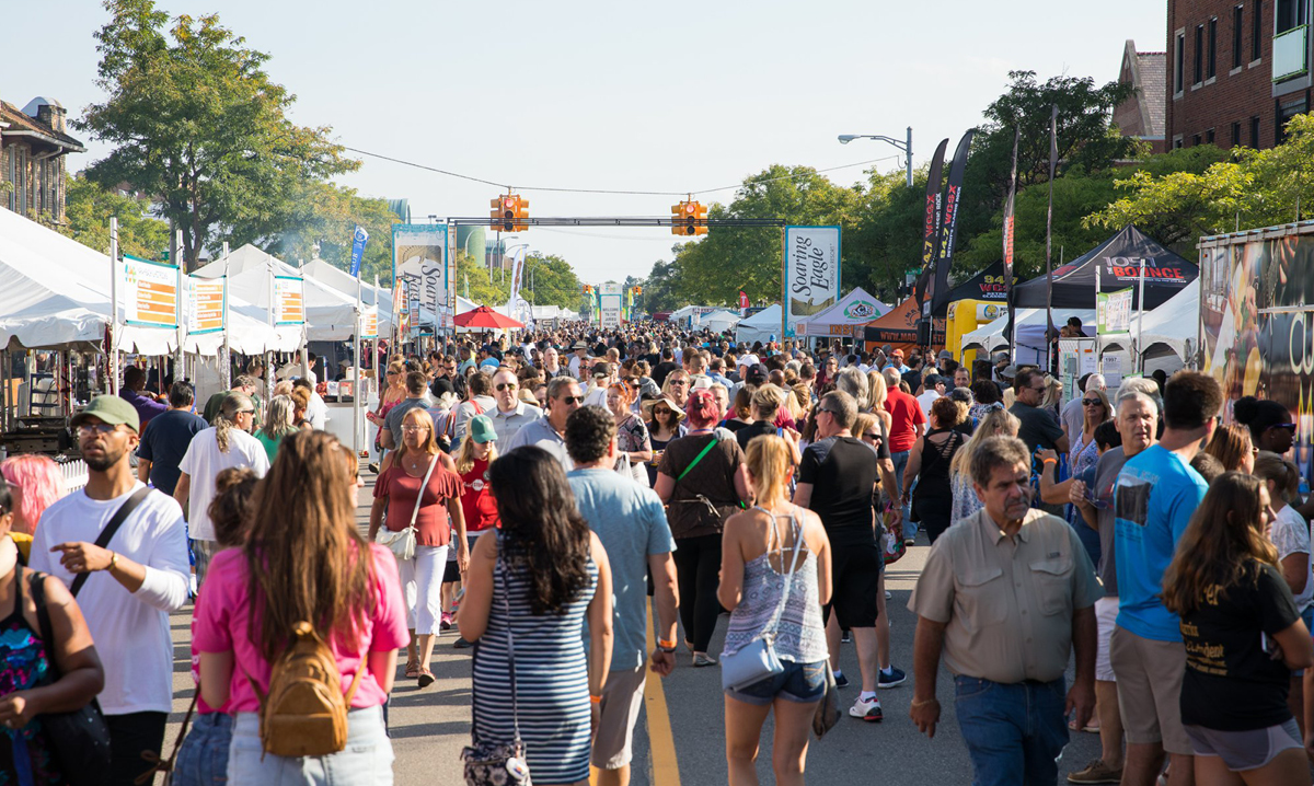 Crowd shot from Arts, Beats and Eats in downtown Royal Oak