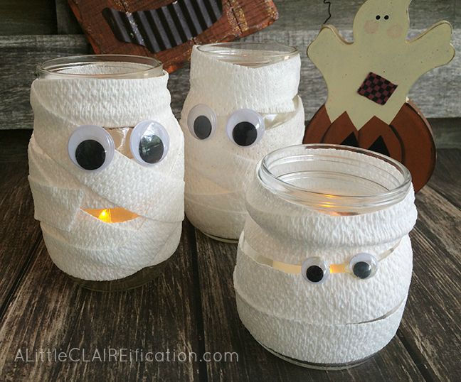 glowing mummy jars