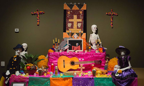 an ofrenda altar from the DIA display