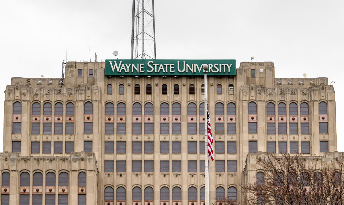 Photo of building at Wayne State University