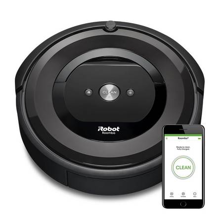 Roomba e5 vacuum cleaner on a white background