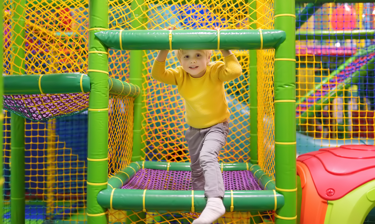 Child at indoor play place