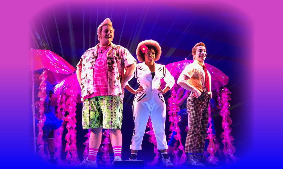 SpongeBob, Patrick and Sandy in the SpongeBob Musical