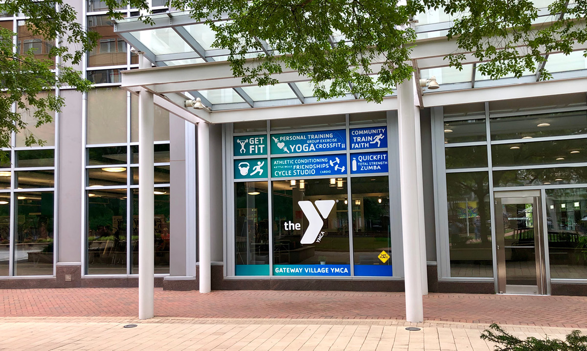 The front of a YMCA