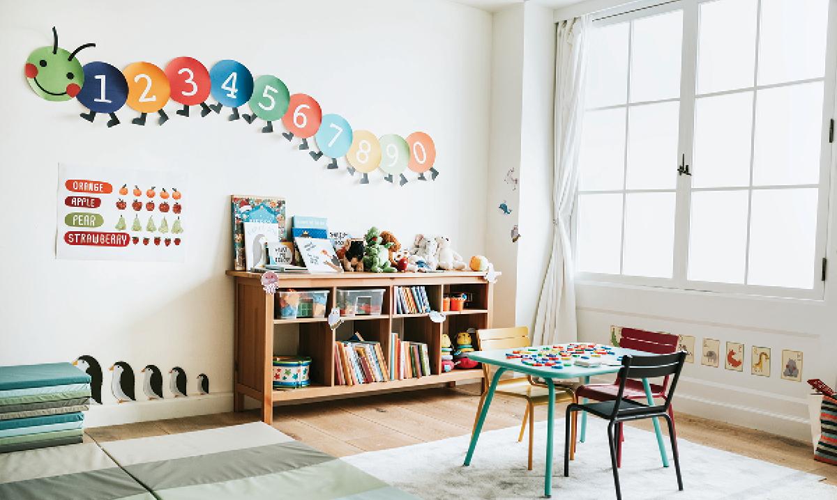 The inside of a preschool classroom