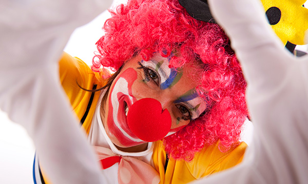 Close-up of a clown