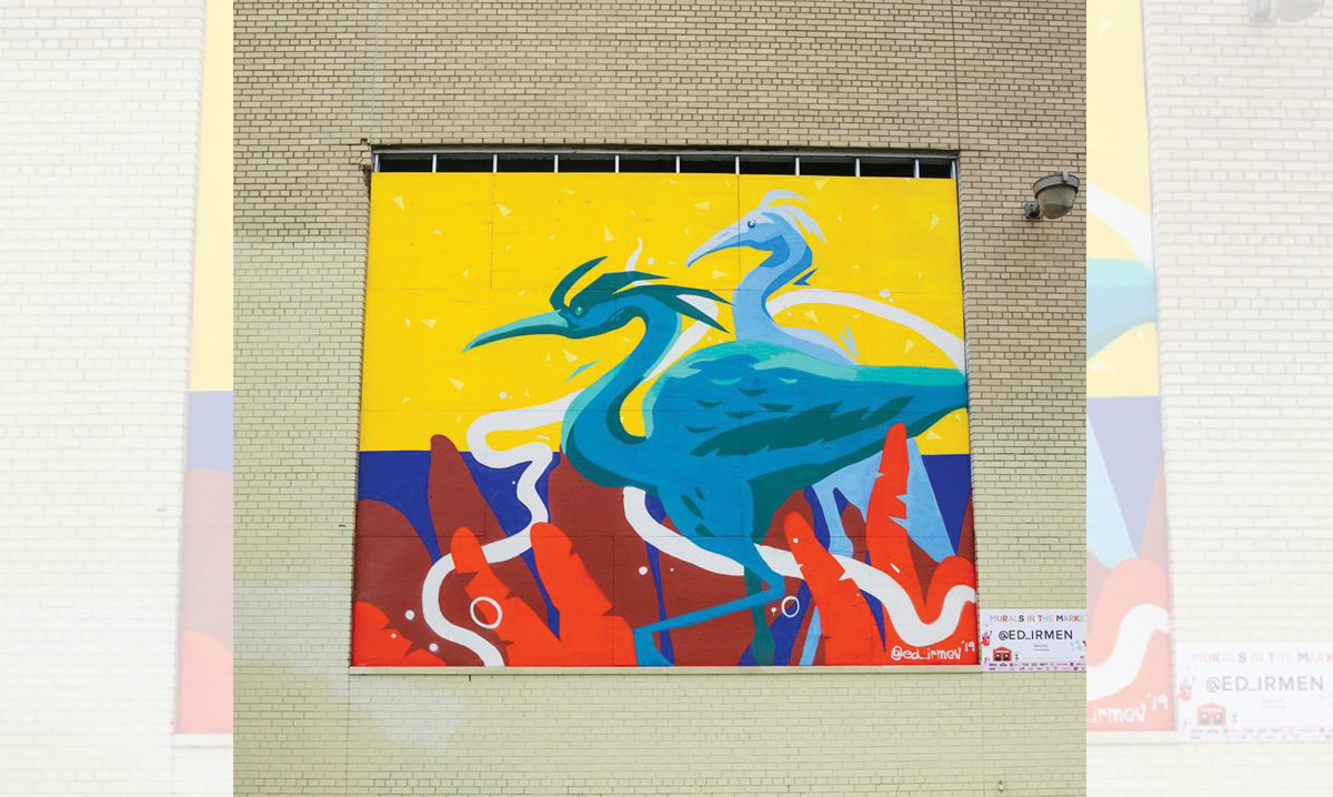A mural from Murals in the market