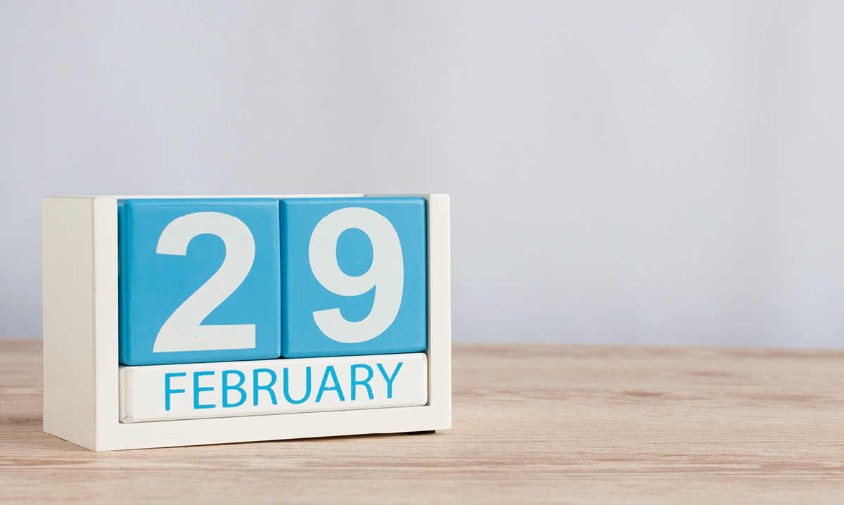 Date blocks that read 29 February