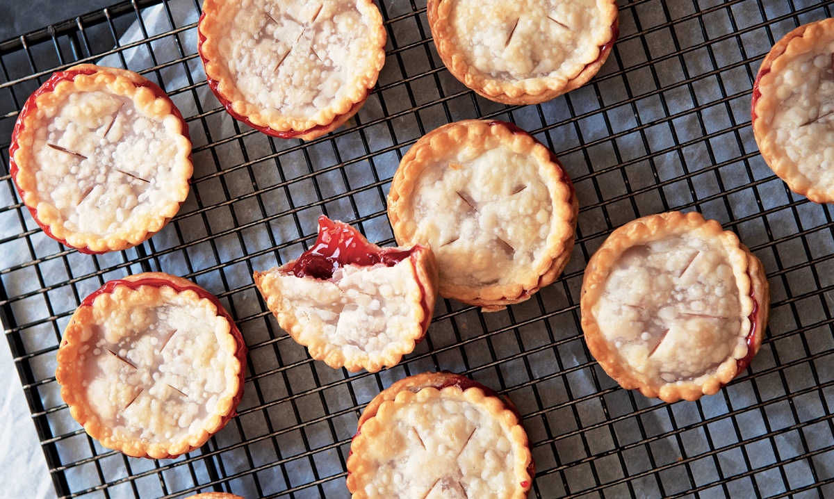 Close-up or mini pies for pi day