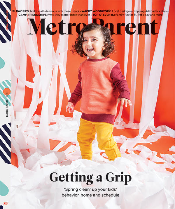 The March 2020 cover of Metro Parent